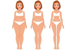 Fat to slim woman weight loss