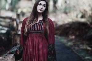 Brunette Bohemian Girl