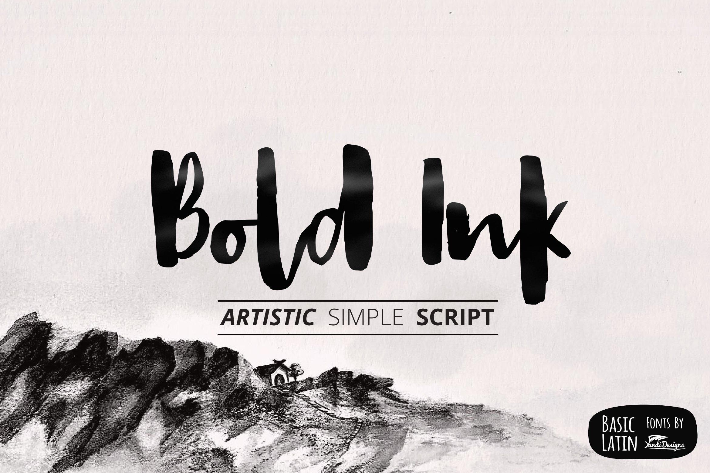Bold Ink Simple Font Script Fonts Creative Market