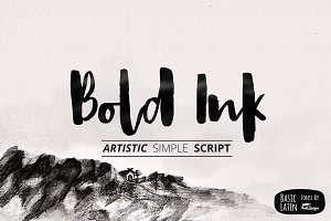 Bold Ink Simple Font