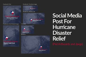 Disaster Relief Fund Social Graphics