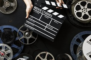 Retro video films and movie slate