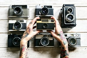 Vintage file cameras