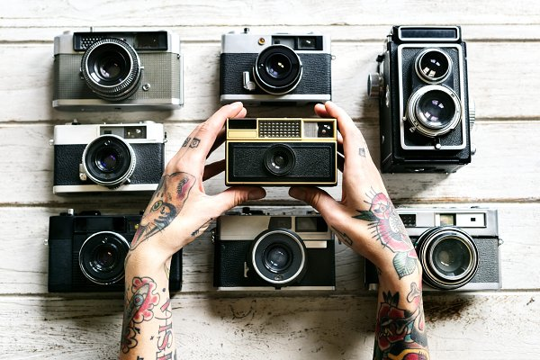 Technology Stock Photos: rawpixel - Vintage file cameras