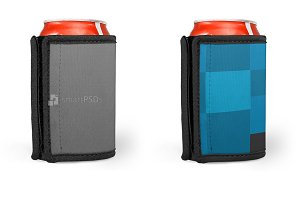 Can Cooler Wrap Design Mockup