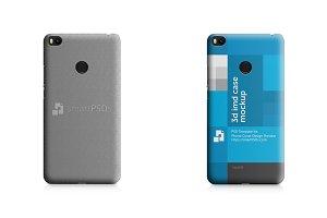 Xiaomi Mi Max 2 3d IMD Case Mockup