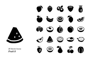 Fruit II glyph vector icons
