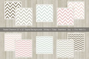 10 Chevron Seamless Web Patterns