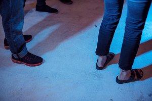 People dancing on the floor