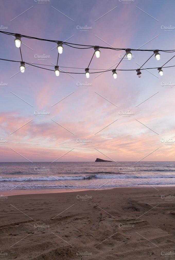 row of light bulbs - Holidays