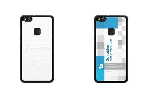 Huawei P10 Lite 2d Rubber Flex Case