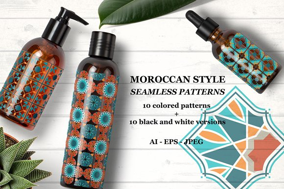 Moroccan style patterns-Graphicriver中文最全的素材分享平台