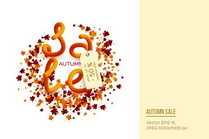 Autumn sale poster design.