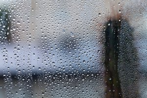 Rain drops at the window