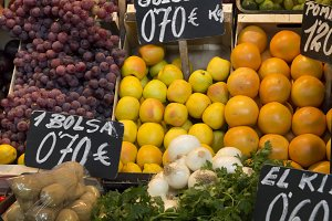 Fresh fruit in a local market