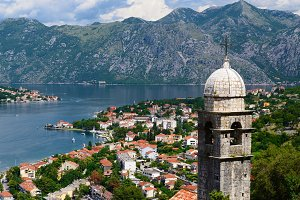 View on Bay of Kotor in Montenegro