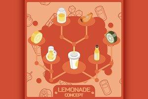 Lemonade color concept icons