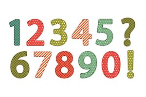 Cute vintage shabby chic style numbers
