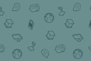 Logistics outline isometric pattern