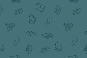 Marketing outline isometric pattern