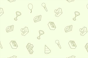 Party outline isometric pattern