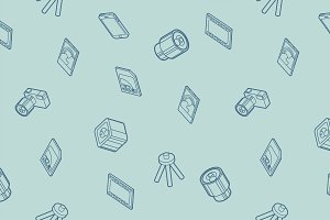 Photo icons pattern