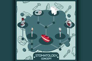 Stomatology color concept icons