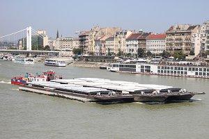 Danube river in Budapest