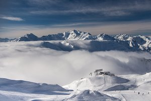 Ski slopes in St. Anton am Arlberg