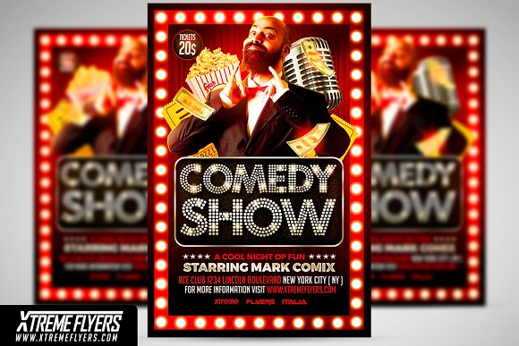 Comedy Show Flyer Template ~ Flyer Templates ~ Creative Market