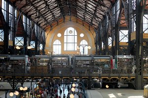 Great Market Hall inside. Budapest