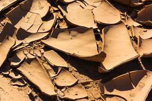 Close up cracks dry riverbed