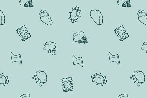 Weather outline isometric pattern