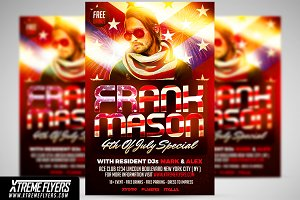 4th Of July DJ Flyer Template