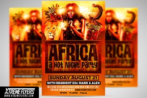 Africa Party Flyer Template