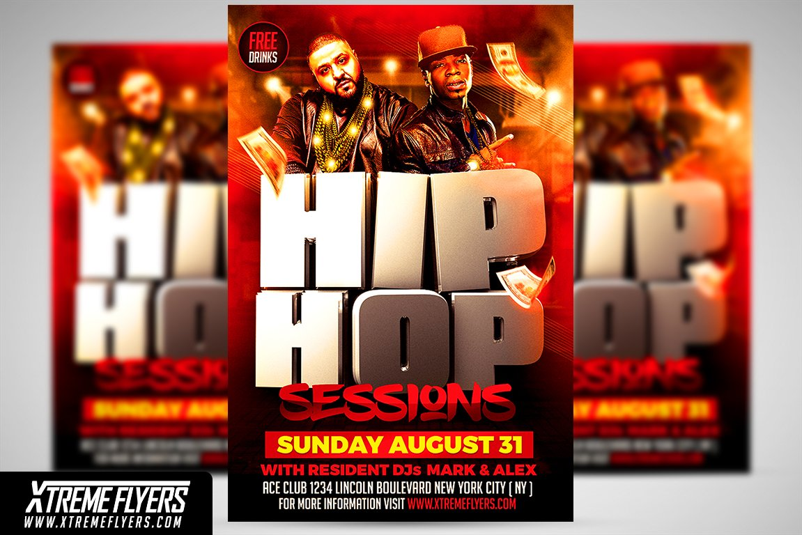 Hip Hop Flyer Template Templates Creative Market
