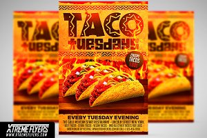 Taco Tuesdays Flyer Template Flyer Templates Creative Market - Food truck flyer template