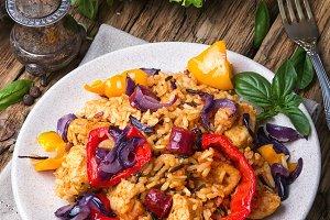 Creole spicy Jambalaya