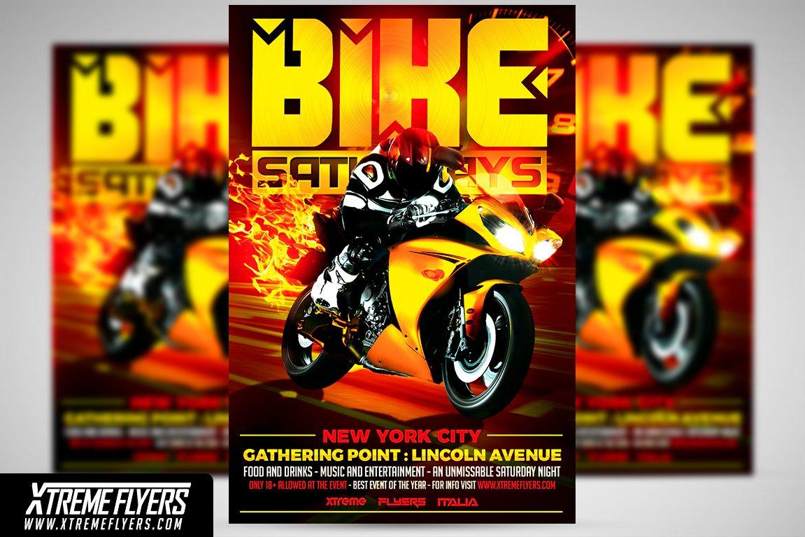 bike night flyer template flyer templates creative market