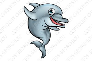 Dolphin Cartoon Character