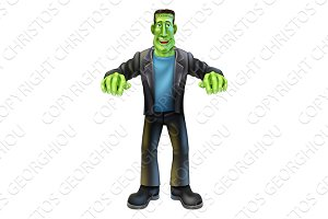 Halloween Cartoon frankenstein