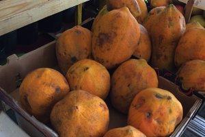 Papayas at fruit market
