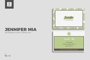 Feminine Business Card No. 12