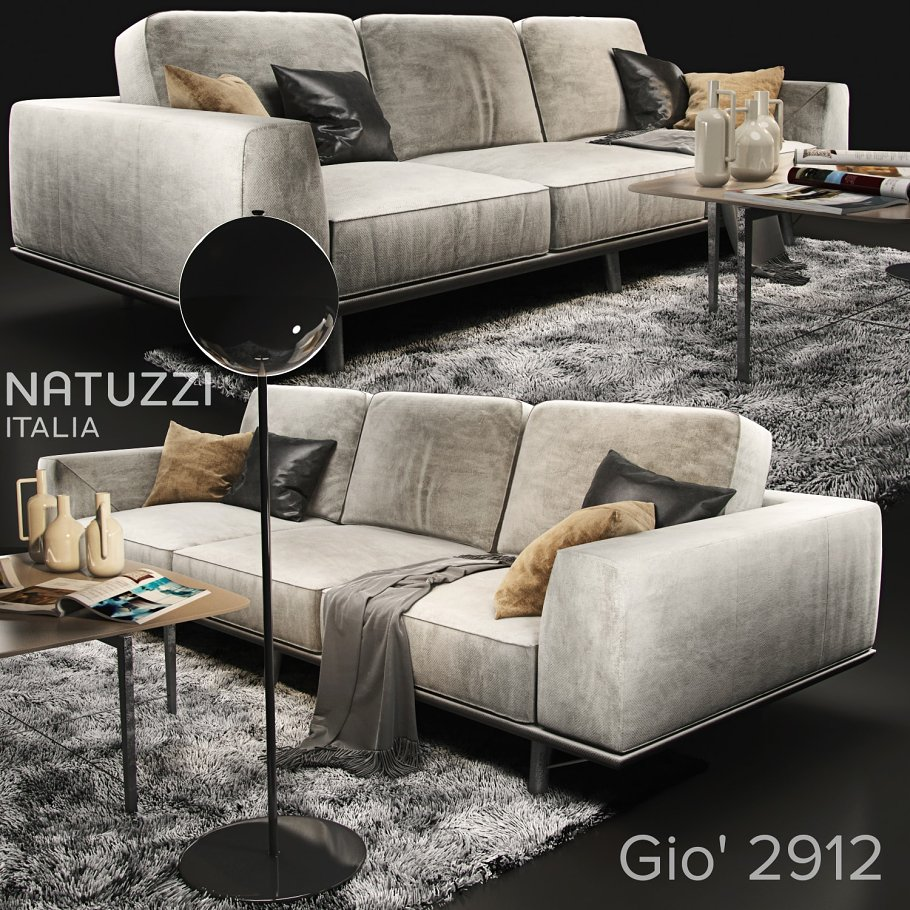 Sofa Natuzzi Gio 2912 Furniture Models Creative Market