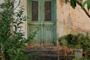 Old House Green Door