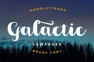 Galactic Brush Font