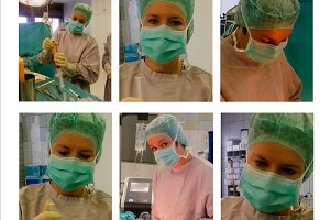 Doctor preparing for operation on lipofilling of female breast
