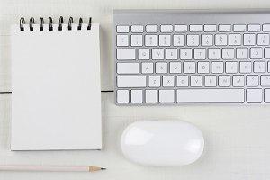 Horizontal White Home Office Desk