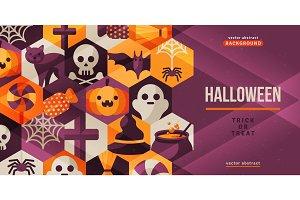 Halloween creative banner