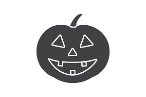 Halloween pumpkin glyph icon